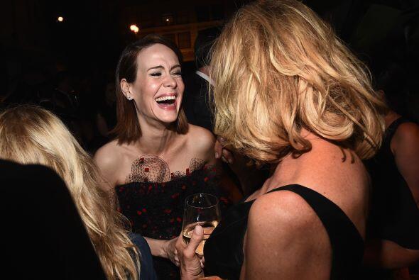 Sarah Paulson no paró de reír toda la noche.
