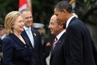Obama y Clinton reciben a Calderón el 19 de mayo de 2015
