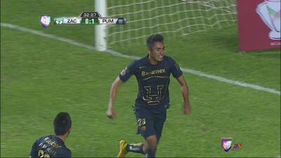 Alfonso Nieto abre el marcador para los Pumas ante Zacatepec