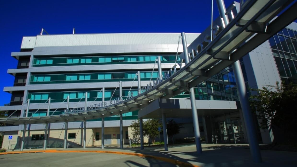 Exterior del hospital Martín Luther King Jr.
