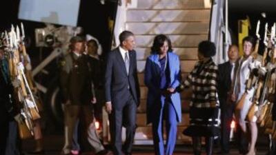 El presidente estadounidense llegó por la noche a Sudáfrica para una vis...