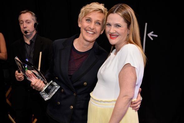 Ellen DeGeneres y Drew Barrymore.