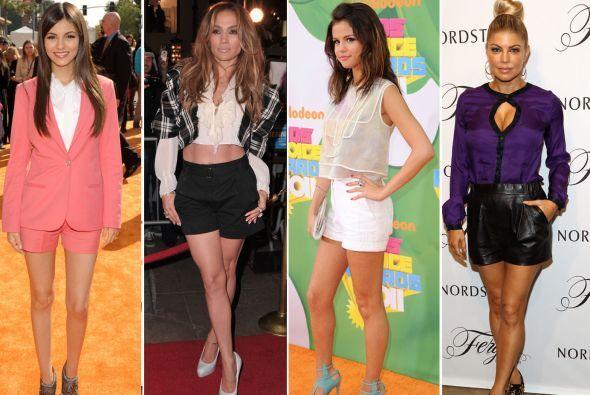 ¿Quién dijo que los shorts eran una prenda informal? Las famosas los por...