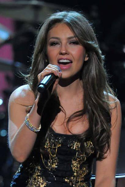 Mientras Thalía le ponía sabor mexicano a la noche, el público presente...