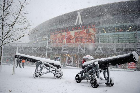 Parece una postal pero es la realidad. Mucha nieve, frío y tormentas.