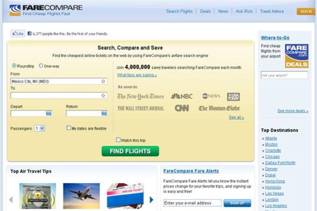 FARCOMPARE - Envía alertas de rebajas en los precios de pasajes aéreos e...