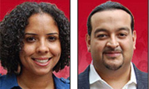 Los candidatos del Partido Socialista y Libetración: Peta Lindsay y Yari...
