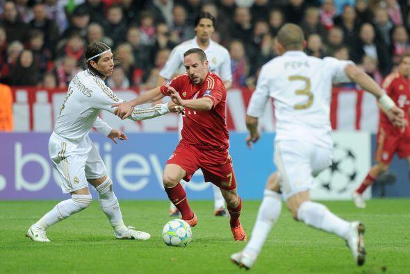 Ribery seguía siendo el motor del Bayern, dejando regados a los d...