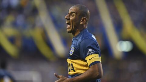 """Daniel """"Cata"""" Díaz un hombre fuerte en la zaga de Boca Juniors."""