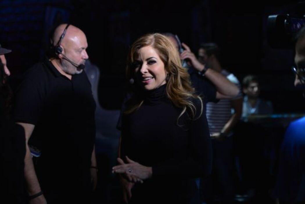 Gloria Trevi llegó a los ensayos muy feliz. La cantante mostró toda su e...