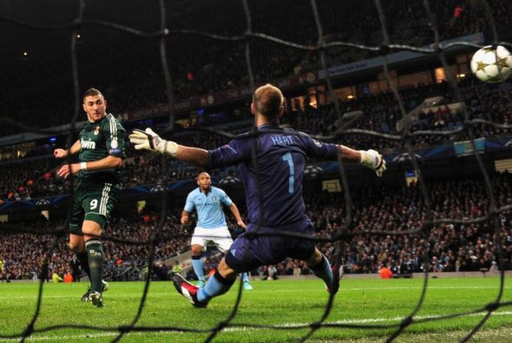 Per el primer golpe lo dio el francés Karim Benzema.