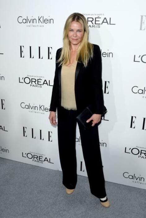 Chelsea Handler prefirió ir a lo seguro con unos pantalones.