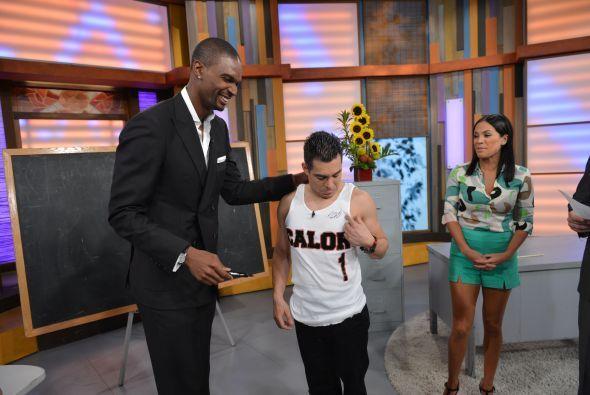 El jugador del Miami Heat llegó a nuestra casa para toparse con un chapa...