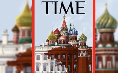 Imagen de la Casa Blanca cubierta por domos rusos, la polémica portada d...