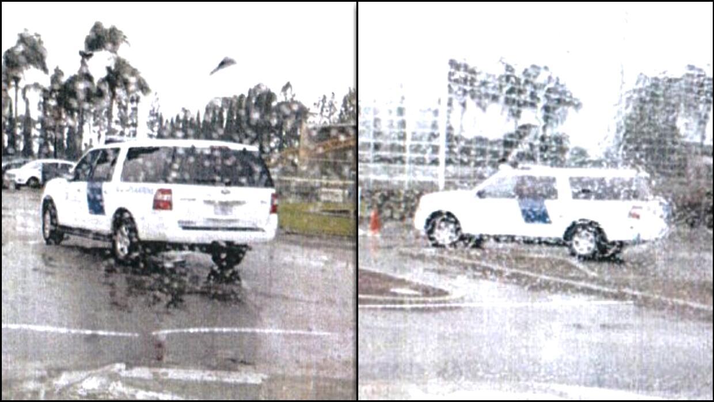 Aparente patrulla de ICE en estacionamiento de la Catedral de Cristo, en...