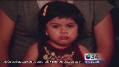 Madre llora la muerte de su hija de 2 años