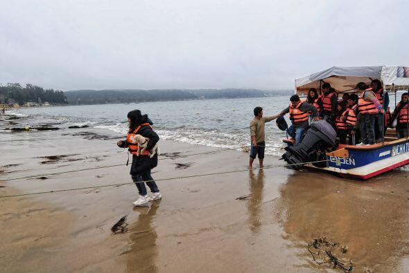 El remero Emilio Gutiérrez pasea turistas por el río Maule...