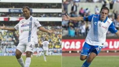 Ronaldinho y Cuauhtémoc Blanco