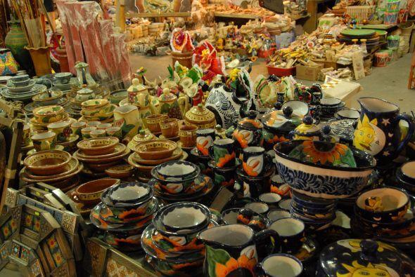 También había bellos objetos de Talavera.