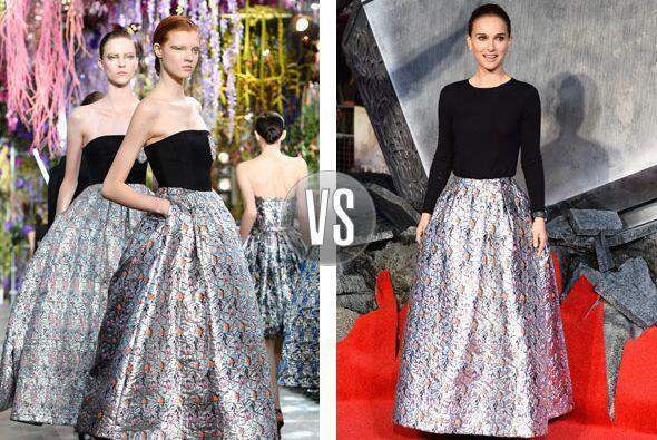 Christian Dior es una de las marcas favoritas de famosas como Natalie Po...