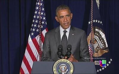 El presidente Obama responde a sus críticos en Texas por la crisis human...