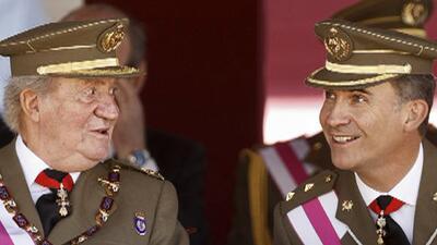 El rey Juan Carlos en evento público tras anunciar su abdicación