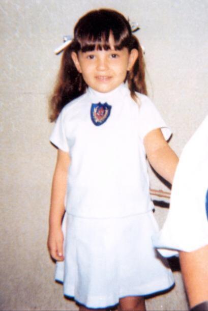 Thalía a los 6 años, 1977.