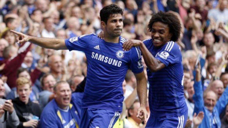 Diego Costa, Willian y Oscar anotaron los goles de la tarde.