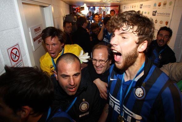 Pero eso no le importó al Inter de milán y los jóvenes llevaron la eufor...