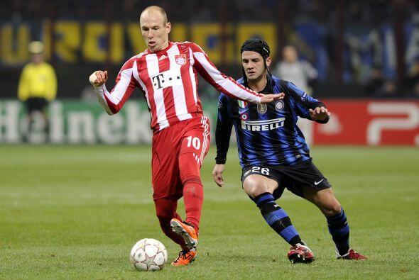 Arjen Robben fue de los mejor por parte del Bayern.