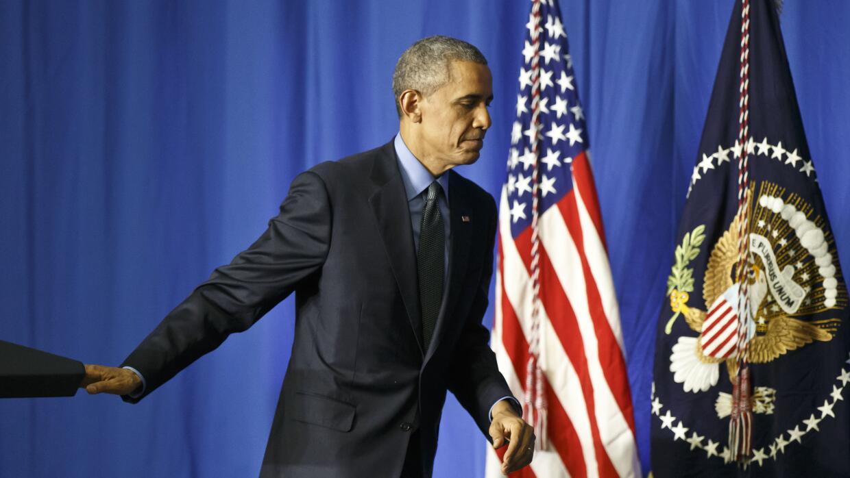 Barack Obama en conferencia en París