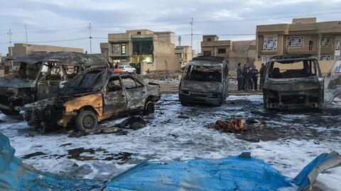 Un atentado ocurrido hace un mes en una localidad al sur de Bagdad, Irak