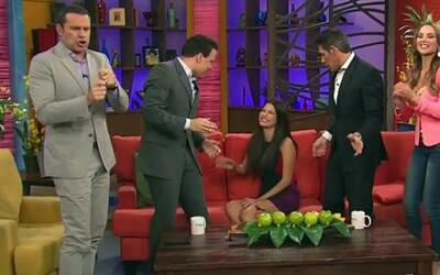Ana Patricia se tropezó en Despierta América  por culpa de sus zapatos