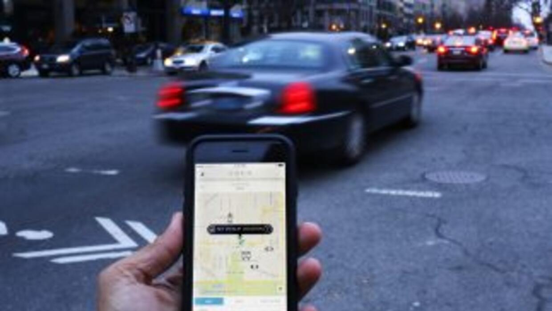 La aplicación de Uber en Washington DC