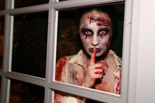 La imagen es como la de una aterradora película de terror. Demi e...