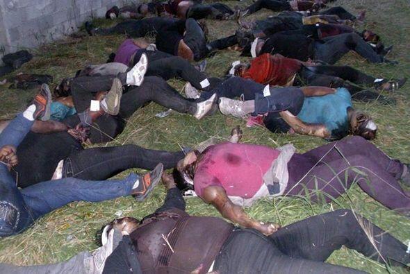 La matanza en agosto de 72 emigrantes clandestinos cuando iban hacia Est...