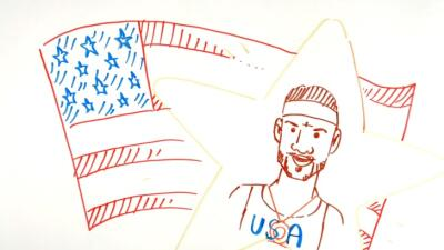 Un grupo de aficionados contó la historia del basquetbolista con caricat...