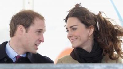 El príncipe Guillermo y su prometida Kate Middleton.