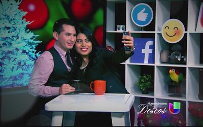 Detrás de cámaras de la filmación de la campaña navideña de Univision Ar...