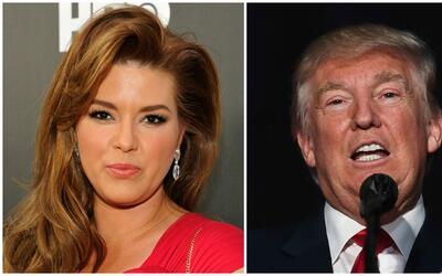 Donald Trump arremete contra Alicia Machado en Twitter