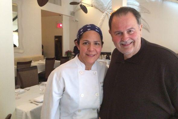 La chef Lucero del restaurante de Plácido Domingo se tomó una foto con n...
