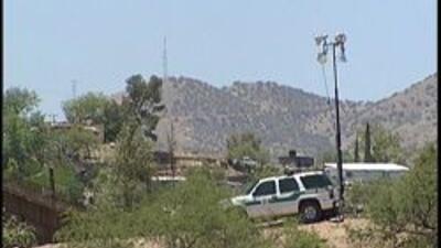 Agente de la patrulla fronteriza en la frontera
