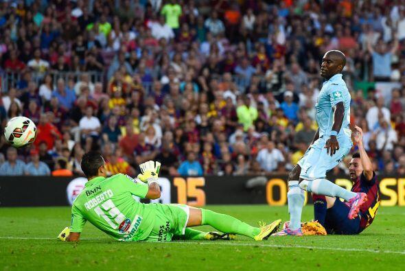 Messi cerró la pizarra de 6-0 con este gol.