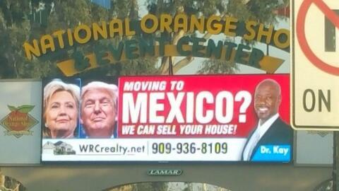 Un espectacular colocado en la ciudad de San Bernardino ofrece ayuda par...