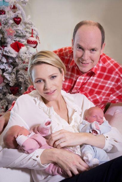 Alberto y Charlene de Mónaco adelantaron el regalo de Navidad.