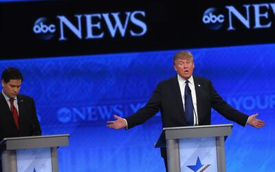 Donald Trump en el debate republicano