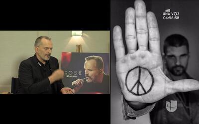 Miguel Bosé y Juanes por la paz en Las Naciones Unidas