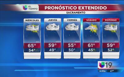 Las precipitaciones se acercan a Sacramento
