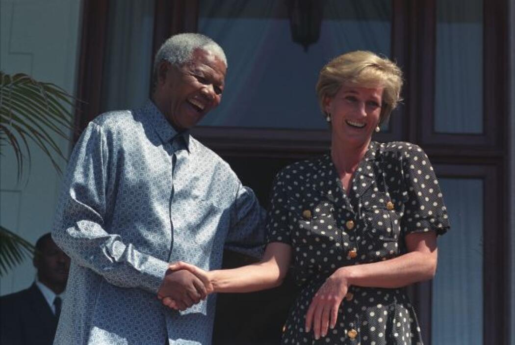 El encuentro con Mandela se dio justo cinco meses antes de su muerte.