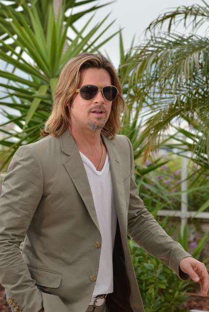 Cualquiera podría decir que Brad Pitt parece un vagabundo con esa barba...